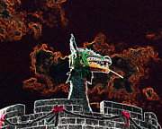 Spooky  Digital Art - Dreadful Dragon - Digital Art by Al Powell Photography USA