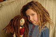 Handmade Digital Art Prints - Dreadlock Dollz Print by Rich Beer