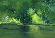 Peaceful Scene Paintings - Dream 1 by Anil Nene