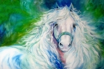 Friesian Paintings - Dream Andalusian by Marcia Baldwin
