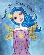 Little Girls Mixed Media - Dream Big by Angie Reeves