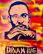 Stencil Art Paintings - Dream Big by Tony B Conscious