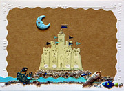 Castle Mixed Media Originals - Dream Castle by Gracies Creations