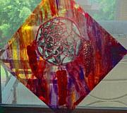 Catcher Glass Art - Dream Catcher by Arnold Quentin