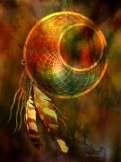 Colorful Native American Framed Prints - Dream Catcher Framed Print by Brad Robertson