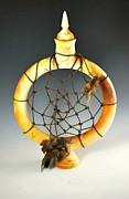 Catcher Mixed Media Originals - Dream Catcher Form by Steven Osterlund