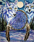 Dream Catcher Paintings - Dream Catcher by Frank Botello