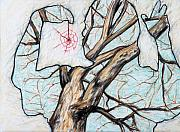 Branches Pastels Prints - Dream Catcher Print by John Terwilliger