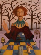 Chess Painting Posters - Dream Catcher Poster by Leah Saulnier The Painting Maniac