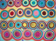 Aboriginal Art Painting Posters - Dream Circles Poster by Karla Gerard