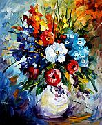 Floral Still Life Originals - Dream Flowers by Leonid Afremov
