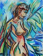 Landscapes Drawings Originals - Dream Girl 98 by Bradley Bishko