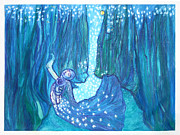 Moonlit Night Prints - Dream Girl Print by Melinda English