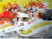 Indian Artist Prints - Dream Home Print by Shubhankar Adhikari
