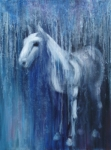 Blue Horse Posters - Dream Horse Poster by Katherine Howard