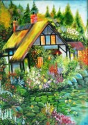 Lotus Leaves Paintings - Dream House by Shilpi Singh