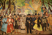 Dream In The Alameda Diego Rivera Mexico City Print by John  Mitchell