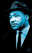 Martin Luther King Jr Posters - Dream Poster by Jeff Nichol