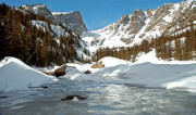 Winter Greeting Cards Posters - Dream Lake Rocky Mountain Park Colorado Poster by James Steele