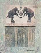Circus Elephant Posters - Dream of Love Poster by Casey Rasmussen White