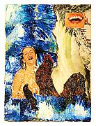 Octopus Mixed Media Framed Prints - Dream of the Fishermans Wife Framed Print by Howard Goldberg