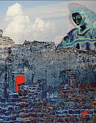 Ruins Mixed Media Originals - Dream of Tulum Ruins by Ann Tracy