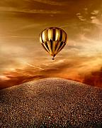 Balloon Digital Art Prints - Dream Print by Photodream Art