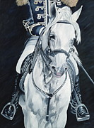 White Horse Painting Originals - Dream Rider by Danielle  Perry