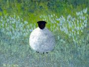 Monet Pastels Prints - Dream Sheep Print by Elaine Hailer