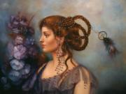 Romantic Paintings - Dreamcatcher by Loretta Fasan