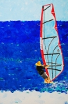 Wind Surfing Art Paintings - Dreamer Disease III by Ralph Mantia Sr