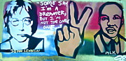 Protest Painting Prints - Dreamers Print by Tony B Conscious