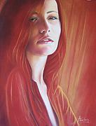 Female Pastels Originals - Dreaming Girl by Anastasis  Anastasi
