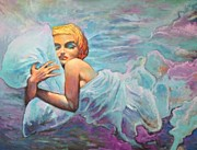Alluring Painting Originals - Dreaming Marilyn by Blendi Tagani