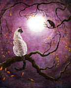 Zenbreeze Paintings - Dreaming of a Raven by Laura Iverson