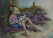Books Pastels Framed Prints - Dreaming of Cinderella Framed Print by Kathleen Keller