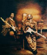 Paul Pyrography - Dreaming of Jimi by Dino Muradian