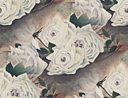 Susan Leggett Metal Prints - Dreaming of Roses Metal Print by Susan Leggett