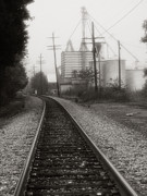 Monotone Prints - Dreaming of Trains Gone By Print by Steven Ainsworth