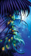 Glowing  Posters - Dreaming Tree Poster by Philip Straub