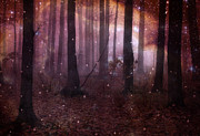 Haunting Woodlands Posters - Dreamland Surreal Fantasy Tree Woodlands Poster by Kathy Fornal