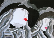 Red Lips Drawings - Dreams and Regrets by Mike Paget