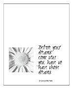 Quotation Prints - Dreams Print by Kate McKenna