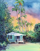 Coconut Palms Prints - Dreams of Kauai Print by Marionette Taboniar