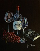 Italian Wine Paintings - Dreams of Paris by James Scrivano
