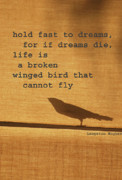 Poetic Mixed Media Prints - Dreams on a Wing Print by adSpice Studios