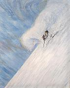 Ski Paintings - Dreamsareal by Michael Cuozzo