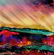 Sun Rays Painting Metal Prints - Dreamscape No. 190 Metal Print by June Rollins