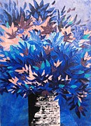 Pallet Knife Prints - Dreamy Blue Print by Shilpi Singh