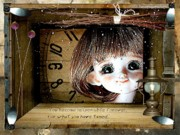 Gifts Mixed Media Originals - Dreamy Doll by Larisa Isaeva